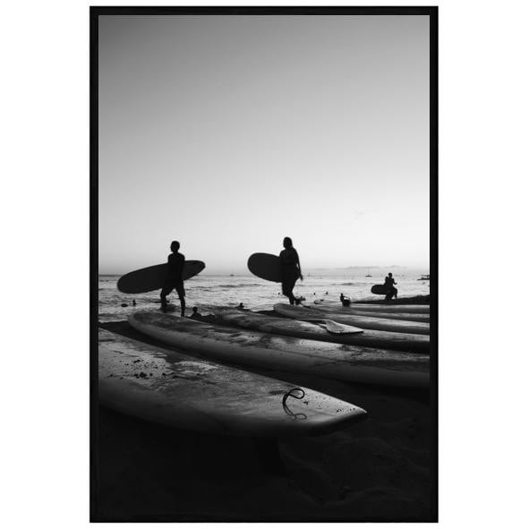 Miami Surf Black & White Wall Art | Attica House Wall Art