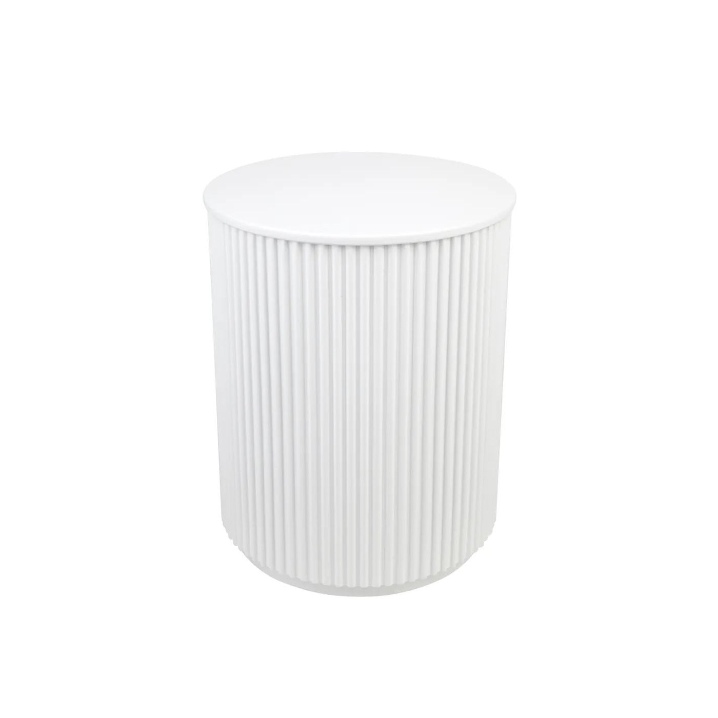 Nomad White Round Side Table