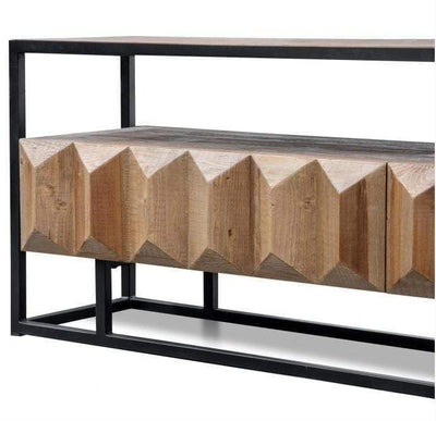 Odessa Natural Wooden Entertainment Unit | Attica