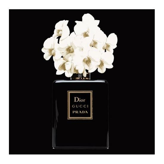 Parfume Fashion Wall Art - Black
