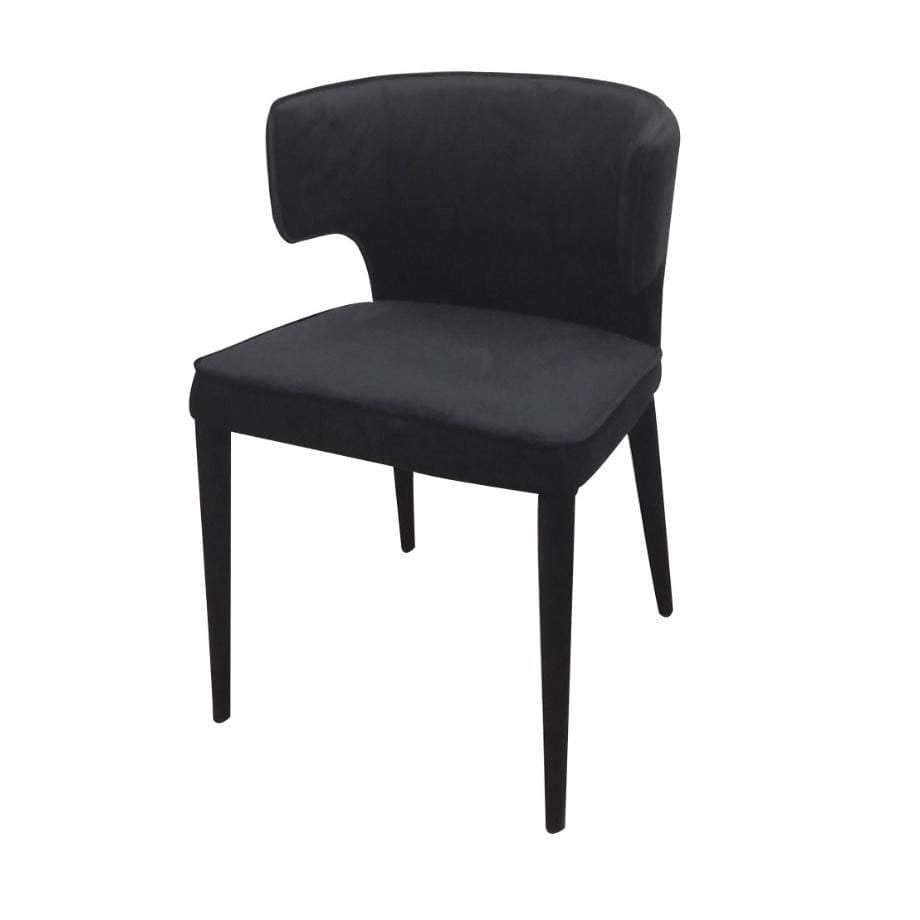 Portofino Dining Chair - Black Velvet