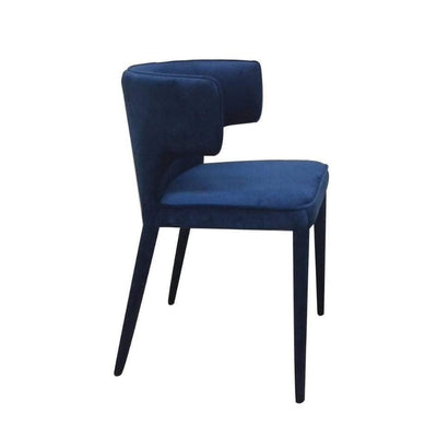 Portofino Blue Velvet Dining Chair - Attica