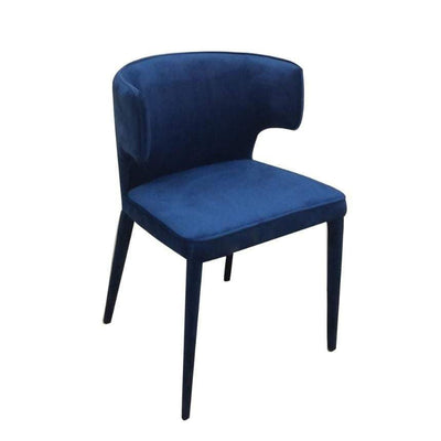 Portofino Blue Velvet Dining Chair