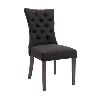 Preston Tufted Dining Chair Charcoal | Luxury Furniture Sydney