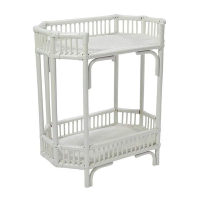 Burwood Rattan Bar Cart White