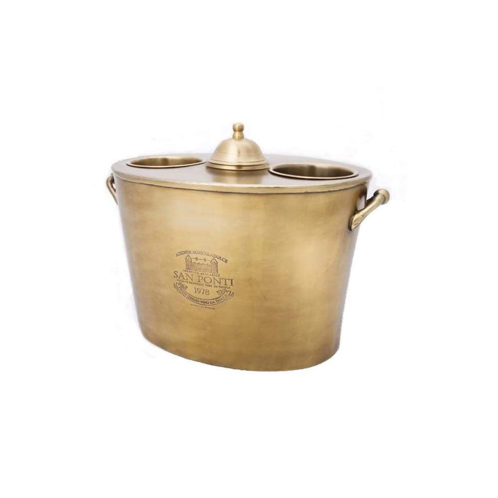 San Ponti Double Wine Cooler - Brass
