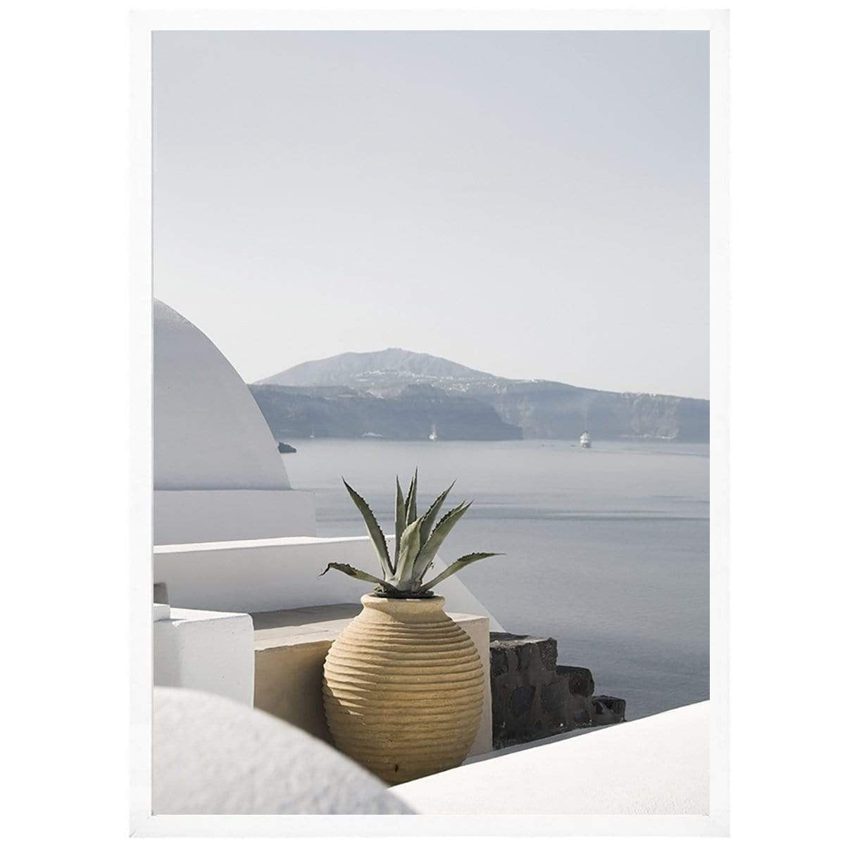 Santorini Coastal Wall Art