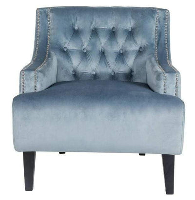 Skyler Velvet armchair Dove grey | Luxury Furniture Sydney