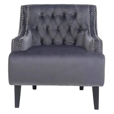 Skyler Charcoal velvet armchair | Luxury Furniture Sydney