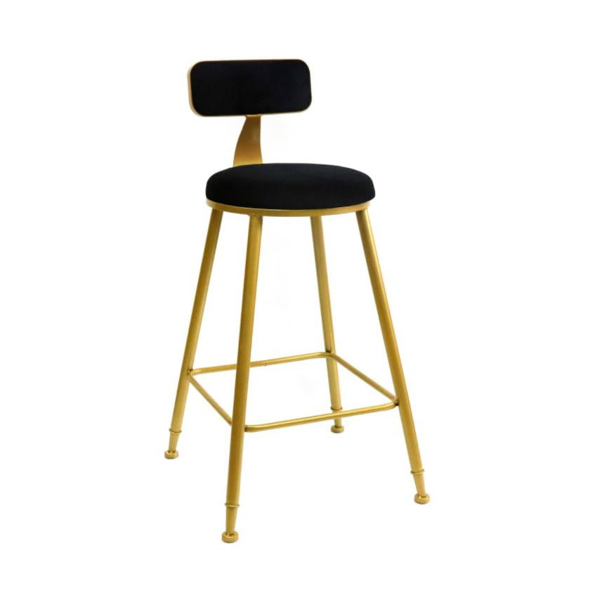 Sofia Kitchen Stool Black & Gold | Attica Home Bar