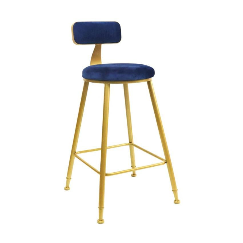 Sofia Kitchen Stool Blue & Gold | Attica Home Bar