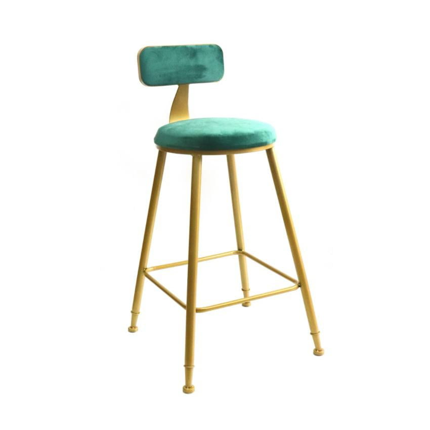Sofia Kitchen Stool Green & Gold| Attica Home Bar