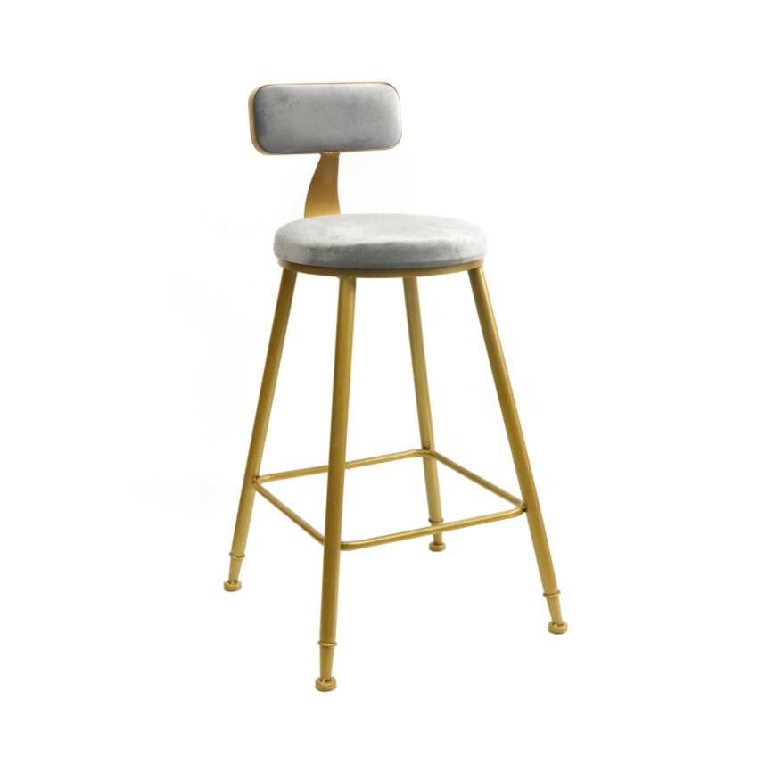 Sofia Kitchen Stool Grey & Gold | Attica Home Bar