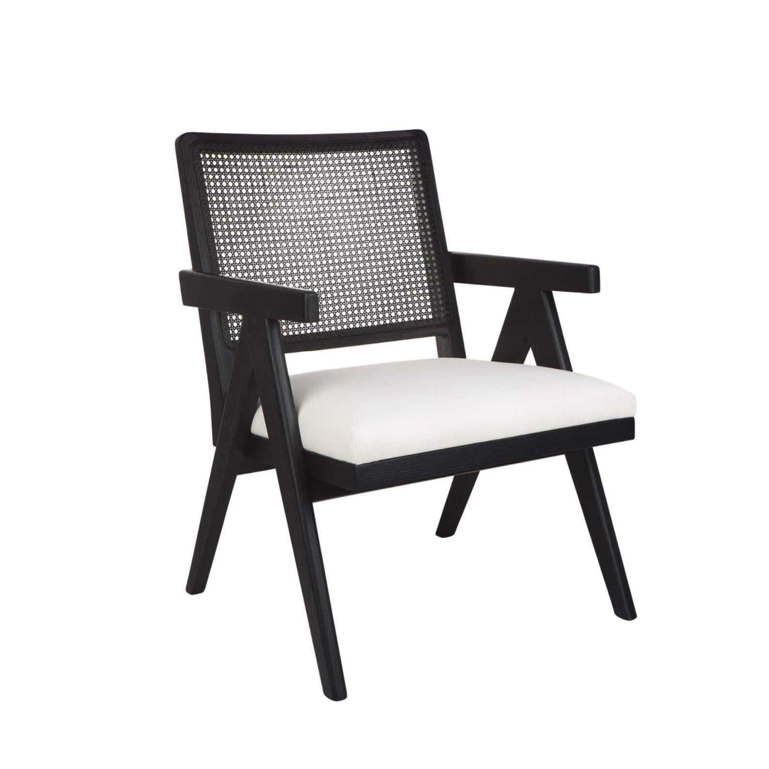 The Imperial Rattan Arm Chair - Black | Attica Home | Luxury Furniture Sydney