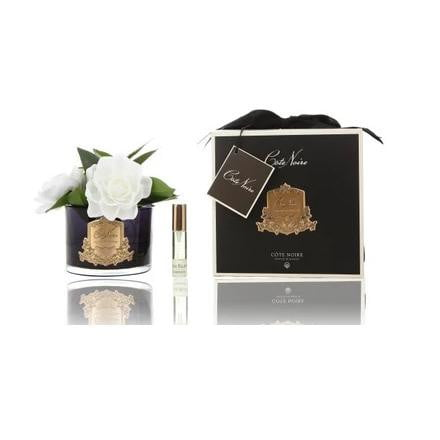 COTE NOIRE PERFUMED NATURAL TOUCH TRIPLE GARDENIA - BLACK | Luxury Furniture Sydney