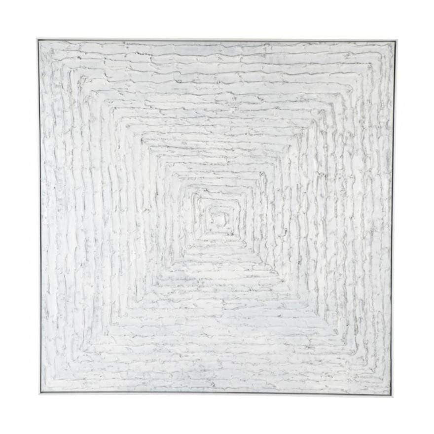 White Vortex Canvas Painting