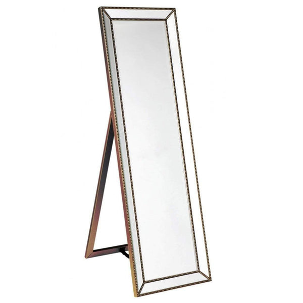 Zeta Cheval Mirror - Antique Gold