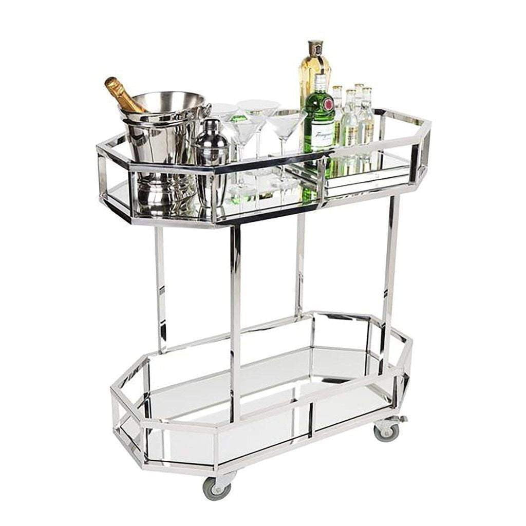 Brooklyn Drinks Trolley - Silver-Attica-luxury bar furniture