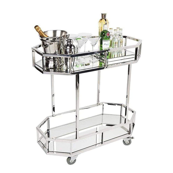 Brooklyn Drinks Trolley - Silver