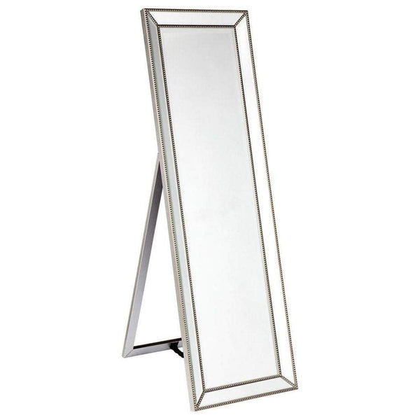 Zeta Cheval Mirror - Antique Silver