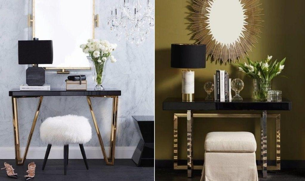 Gold Console Table | Luxury Wall Mirror