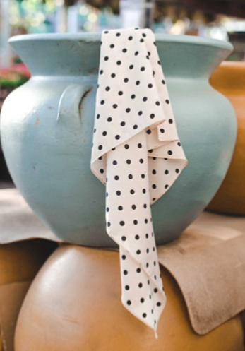 The Pop Of Polka Dot Hair Scarf