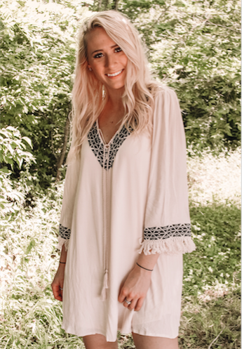 The Embroidered Tent Dress