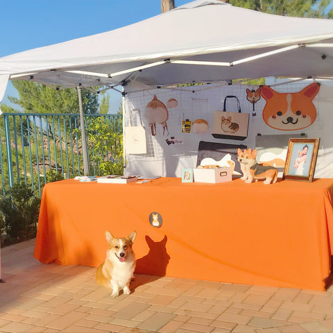 Nayothecorgi booth at corgi beach day 2018