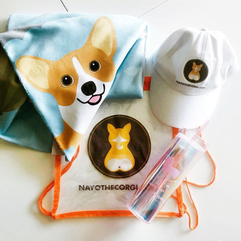 Nayo Corgi beach bag