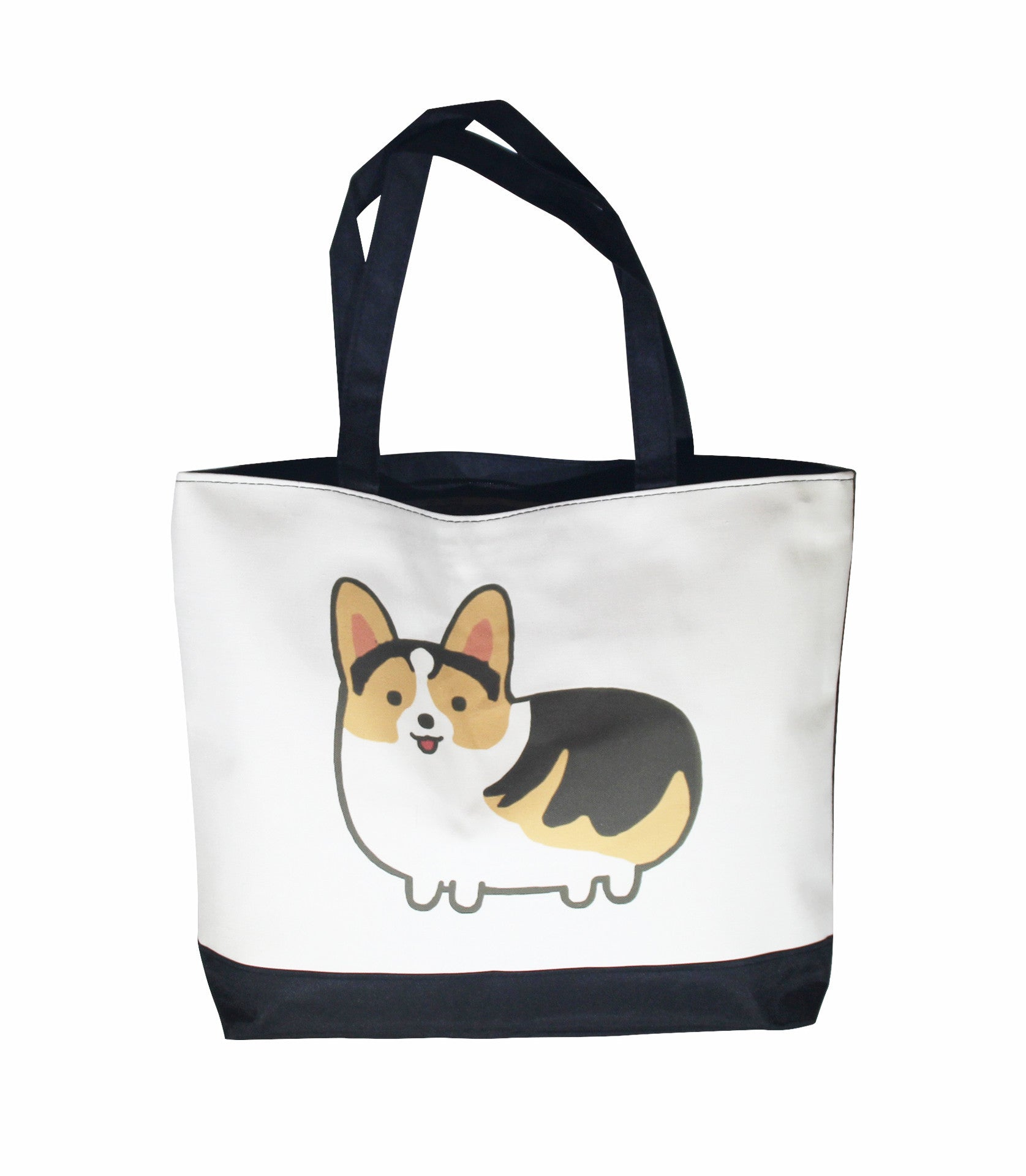 Chubby Corgi Canvas Bag is a great addition for corgi dog owners as a unique corgi gift.  This is a great idea as a gift for corgi owners.