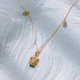 ZIGGY Silver Necklace with G18K Gold Plating