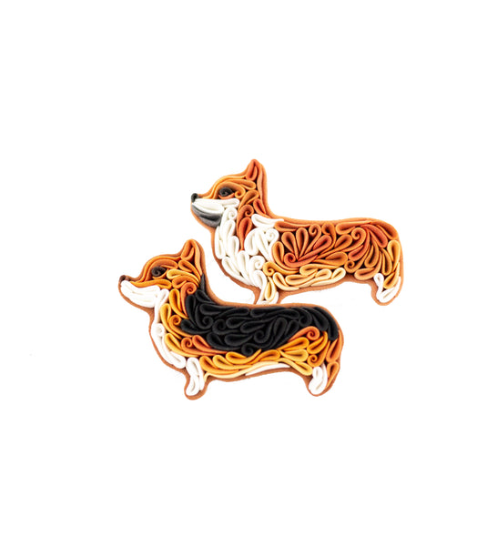 HandMade Corgi Brooch Polymer Clay Corgi Pin BY LiskaFlower
