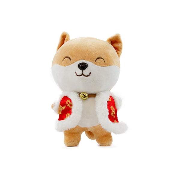 Cheerful Corgi Plushy with Chinese Style Vest