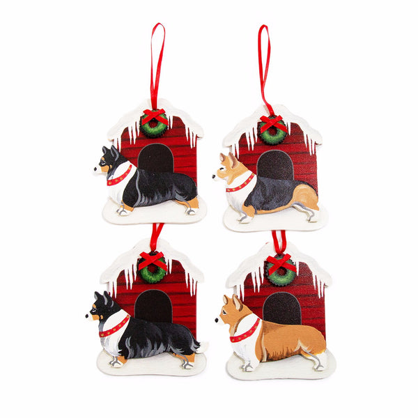 Christmas Snowy Dog House Dog Breed Ornament BY Dandy Design