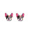 Colorful Frenchie Plastic Ear Studs