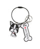 Frenchie I Heart My Dog Keychain