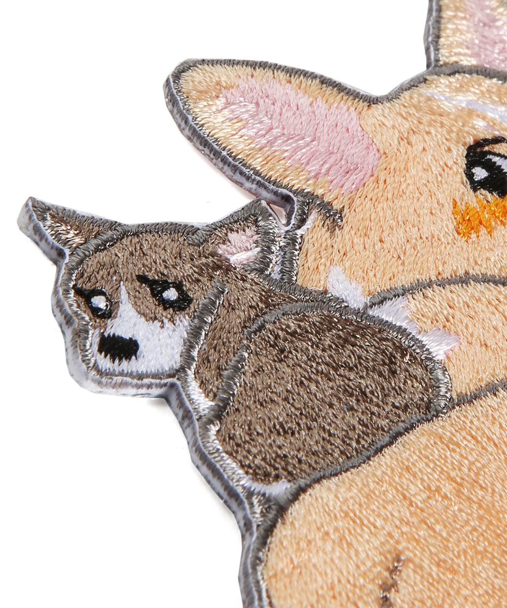 Cute Corgis Hot Press Fabric Patch