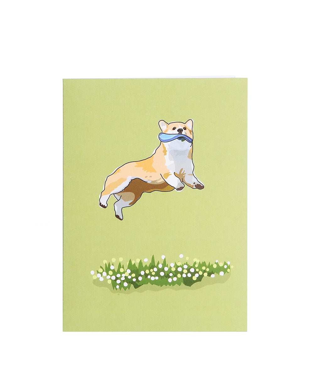 "CORGI GREETING CARD: ""CATCH YOUR DREAMS! HAPPY BIRTHDAY!""(INSIDE) (1 CARD) BY PaperRussells"