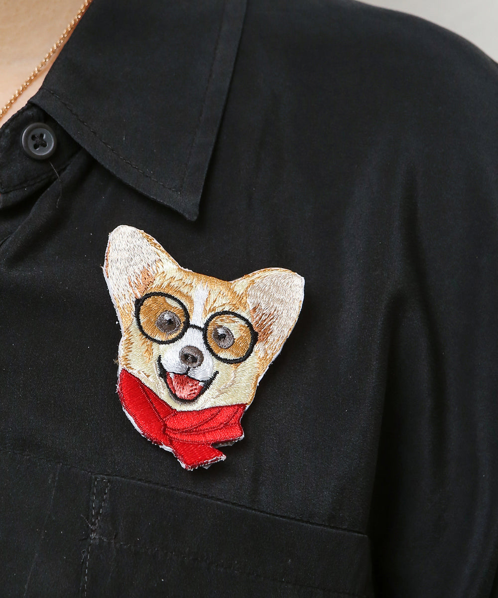 Nayo the Corgi Hot Press Fabric Patch