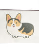 Small Canvas Corgi Make up purse/ Pencil case
