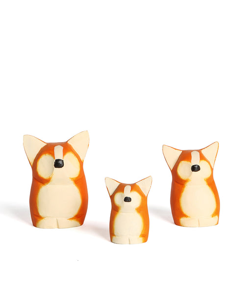 Hand Crafted and Hand Painted Corgi Wooden Decoration