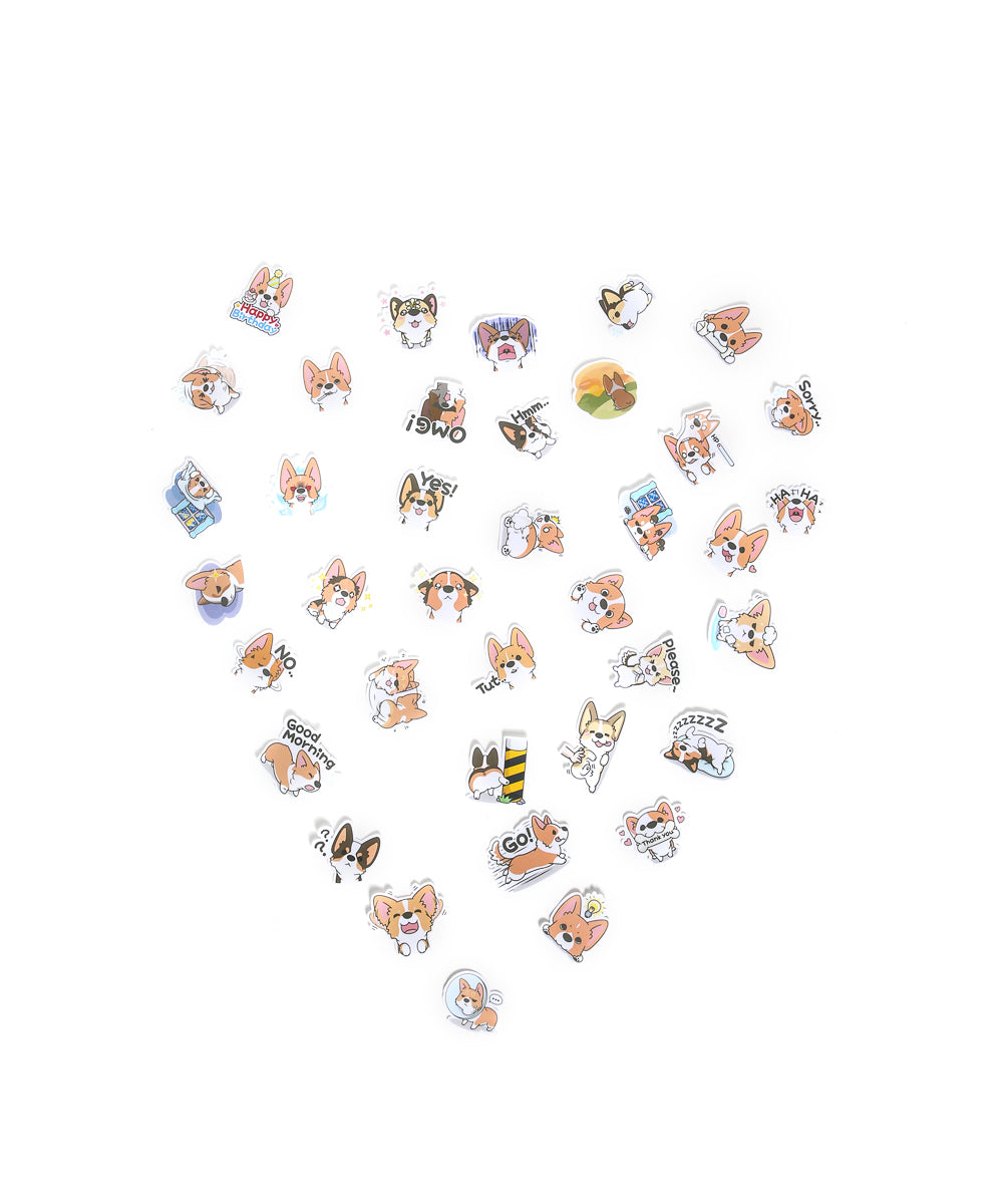 Corgi LINE sticker set 1