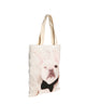 Frenchie White Canvas Bag