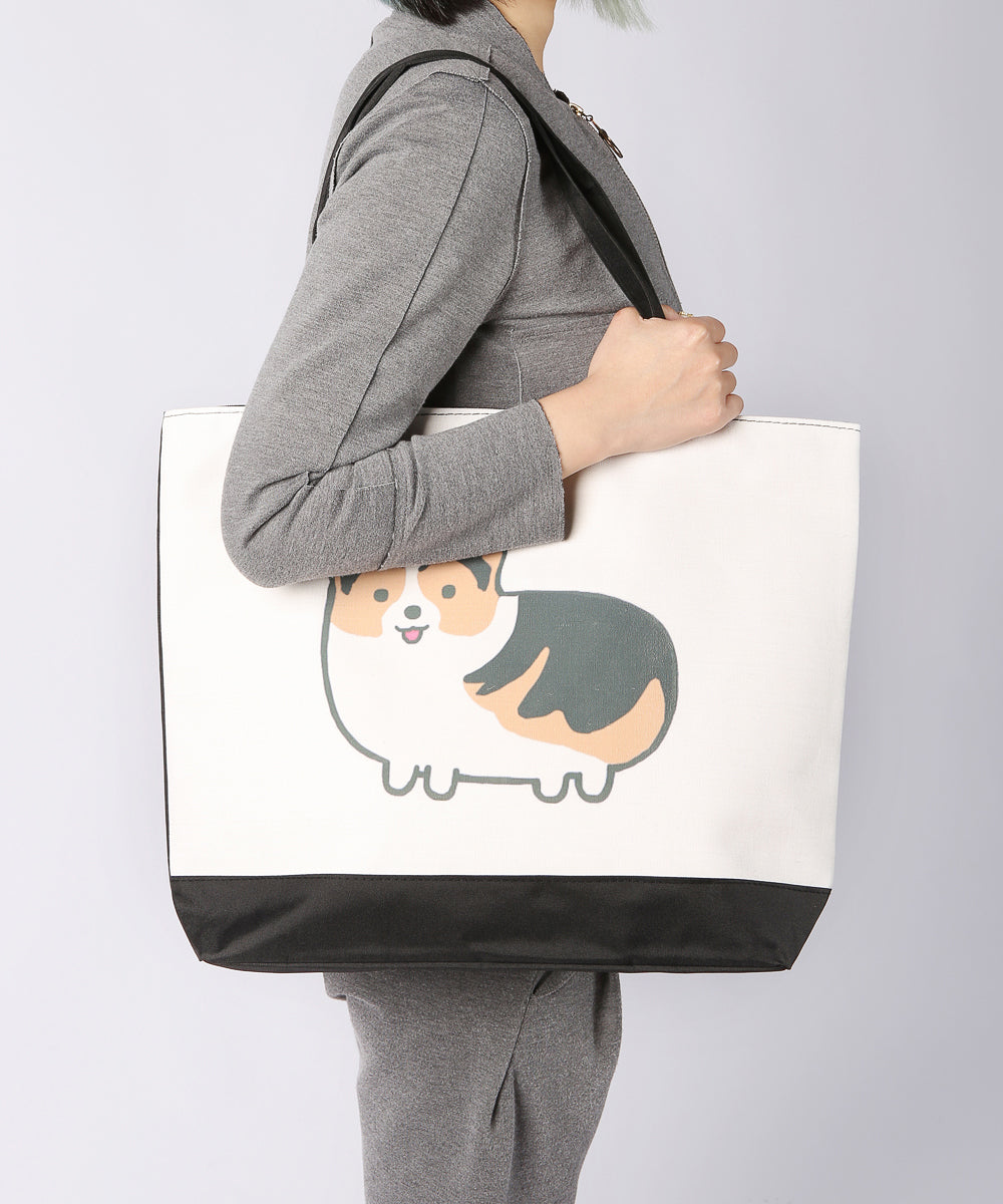 Chubby Corgi Canvas Bag