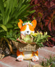 Corgi with Flower Crown Plant Pot