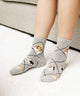 Grey Corgi Sock -  One Size