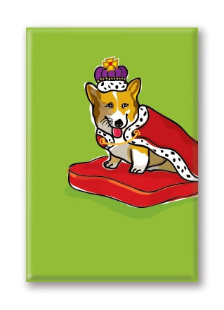 Corgi, Royal Queen Fridge Magnet BY PaperRussells