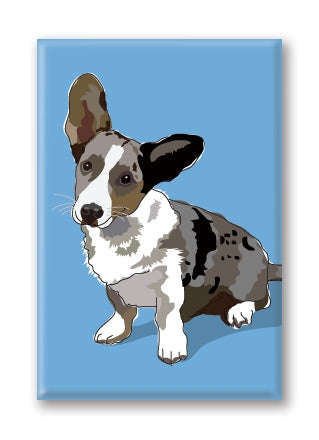 Corgi, Cardigan Fridge Magnet BY PaperRussells