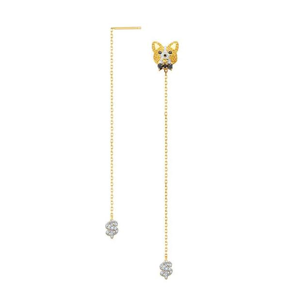 ZIGGY 2018 Year Of Dog Edition Silver Ear Ring with G18K Gold Plating