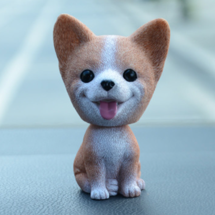 Nodding Corgi Car Decoration